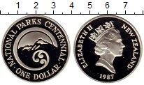 Изображение Монеты Новая Зеландия 1 доллар 1987 Серебро Proof