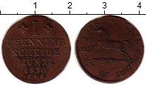 Изображение Монеты Германия Брауншвайг-Вольфенбюттель 1 пфенниг 1830 Медь XF
