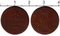 Изображение Монеты Германия Ганновер 1 пфенниг 1824 Серебро VF