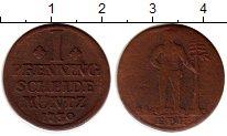 Изображение Монеты Германия Брауншвайг-Вольфенбюттель 1 пфенниг 1730 Серебро VF