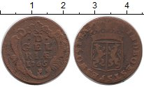Изображение Монеты Нидерланды Гелдерланд 1 дьюит 1765 Медь VF