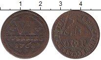 Изображение Монеты Германия Мюнстер 6 пфеннигов 1762 Медь VF