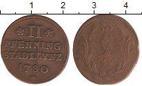 Изображение Монеты Германия Аугсбург 2 пфеннига 1780 Медь VF
