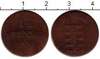Изображение Монеты Германия Саксония 1 1/2 пфеннига 1830 Медь VF