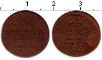 Изображение Монеты Германия Саксен-Кобург-Саалфелд 1 пфенниг 0 Медь VF