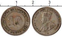Изображение Монеты Великобритания Стрейтс-Сеттльмент 10 центов 1918 Медно-никель XF
