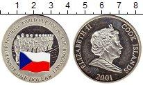 Монета Острова Кука 1 доллар Серебро 2001 Proof- фото