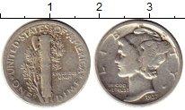 Изображение Монеты США 1 дайм 1937 Серебро XF-