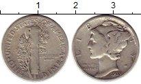 Изображение Монеты США 1 дайм 1939 Серебро XF-