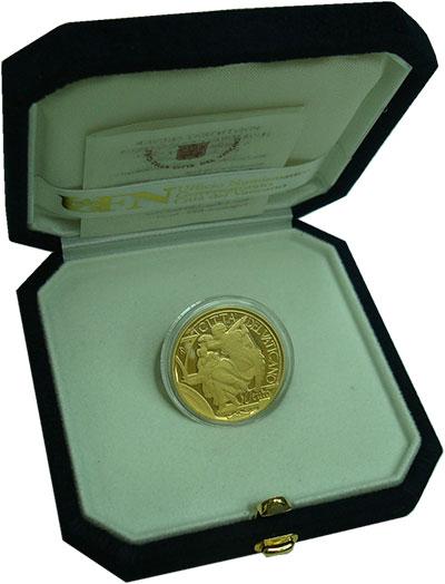 Изображение Подарочные монеты Ватикан 50 евро 2014 Золото Proof 450 лет со дня смерт