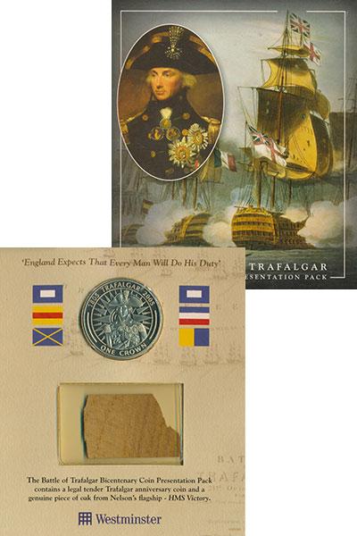 Изображение Подарочные монеты Гибралтар 1 крона 2005 Медно-никель UNC Елизавета II.  200