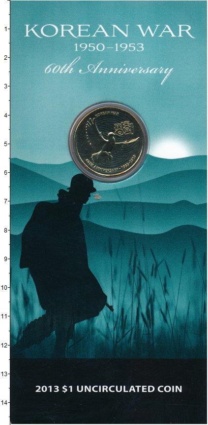 Изображение Подарочные монеты Австралия 1 доллар 2013  UNC- 50-летие окончания в
