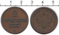 Изображение Монеты Австрия 2 крейцера 1851 Медь XF