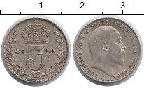 Изображение Монеты Великобритания 3 пенса 1909 Серебро XF