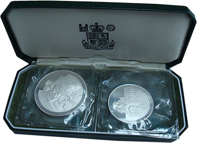 Изображение Подарочные монеты Кипр Лето 1974 года 1976 Серебро Proof В наборе две монеты