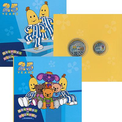 Изображение Подарочные монеты Австралия Бананы в пижамах 2017 Медно-никель UNC `Набор из двух монет