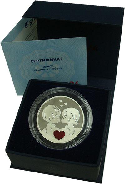 Изображение Монеты Лаос 60.000 кип 2013 Серебро Proof Символ любви. Серебр