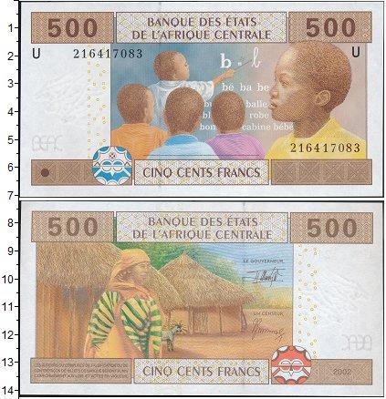 Картинка Боны Центральная Африка 500 франков  2002