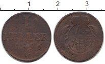 Изображение Монеты Германия Саксония 1 геллер 1796 Медь VF