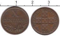 Изображение Монеты Португалия 10 сентаво 1968 Бронза XF