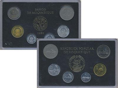 Изображение Подарочные монеты Мозамбик Мозамбик 1980 1980  UNC В наборе 6 монет ном