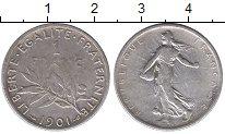 Изображение Монеты Франция 1 франк 1901 Серебро XF