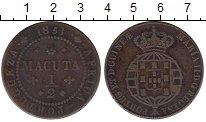 Изображение Монеты Гвинея 1/2 макуты 1851 Медь VF
