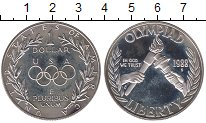 Изображение Монеты США 1 доллар 1988 Серебро Proof