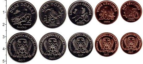 Изображение Наборы монет Сан-Томе и Принсипи Сан-Томе и Принсипи 2017 2017  UNC В наборе 5 монет ном