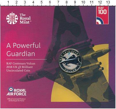 Изображение Подарочные монеты Великобритания 2 фунта 2018 Биметалл BUNC 100 лет Королевским