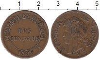 Монета Чили 2 сентаво Медь 1886 XF фото