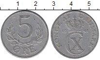 Изображение Монеты Дания 5 эре 1941 Алюминий XF-