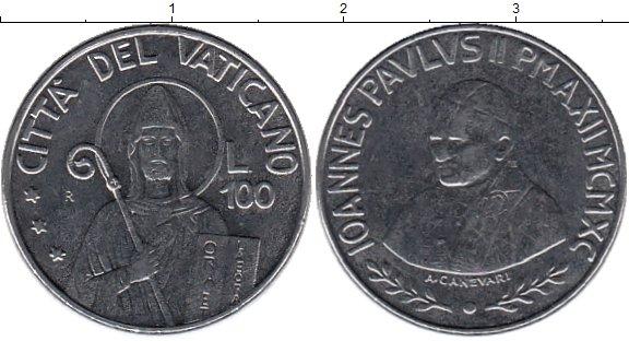 Картинка Монеты Ватикан 100 лир Сталь 1990