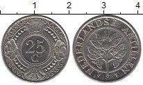 Изображение Монеты Нидерланды Антильские острова 25 центов 1999 Медно-никель UNC-