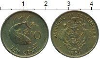 Изображение Монеты Сейшелы 10 центов 1982 Латунь UNC-