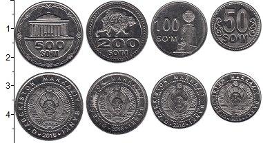 Изображение Наборы монет Узбекистан Набор 2018 года 2018 Сталь UNC Набор состоит из чет