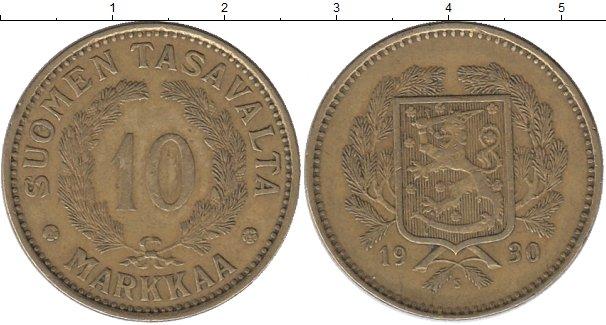 Картинка Монеты Финляндия 10 марок Латунь 1930