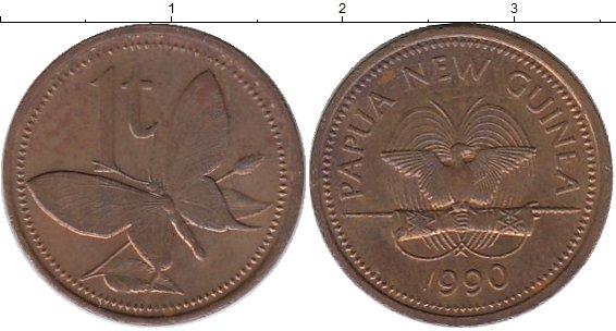 Картинка Монеты Папуа-Новая Гвинея 1 тоа Бронза 1990