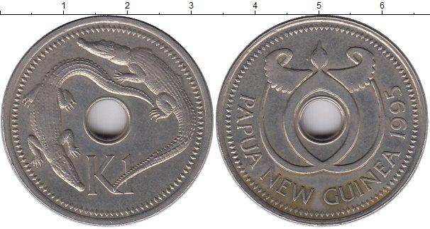 Картинка Монеты Папуа-Новая Гвинея 1 кина Медно-никель 1995