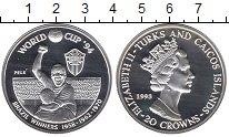 Изображение Монеты Великобритания Теркc и Кайкос 20 крон 1993 Серебро UNC