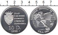 Изображение Монеты Андорра 10 динерс 1993 Серебро UNC