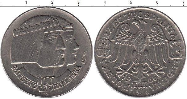 Картинка Монеты Польша 100 злотых Никель 1966