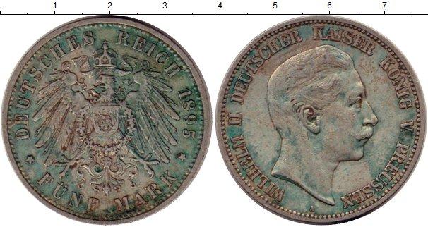 Картинка Монеты Пруссия 5 марок Серебро 1895