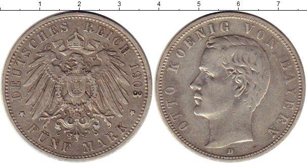 Картинка Монеты Бавария 5 марок Серебро 1903