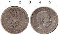 Изображение Монеты Германия Саксония 2 марки 1876 Серебро XF-