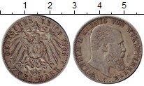 Изображение Монеты Германия Вюртемберг 2 марки 1901 Серебро XF