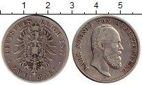 Изображение Монеты Германия Вюртемберг 2 марки 1877 Серебро XF-