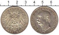 Изображение Монеты Германия Анхальт-Дессау 3 марки 1909 Серебро XF