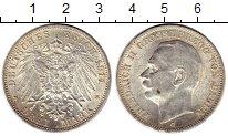 Изображение Монеты Германия Баден 3 марки 1914 Серебро XF