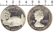 Изображение Монеты Новая Зеландия 1 доллар 1977 Серебро Proof-